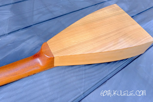 KM Ukuleles Boatpaddle Soprano Ukulele back