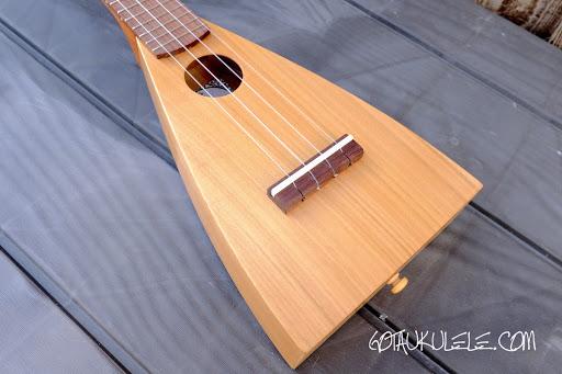 KM Ukuleles Boatpaddle Soprano Ukulele body